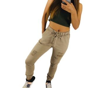 Pants - Taupe Cargo Joggers 2-Pocket Juniors